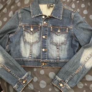 Mixit stretch denim jacket. Bling buttons